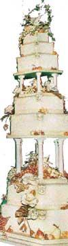 Bryllupskaka til bryllupet mellom Edward og Sophie Rhys-Jones