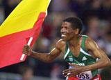 Haile Gebreselassie har fire VM-titler på 10.000 meter fra før.
