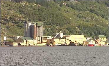 Måløy Sildoljefabrikk i Deknepollen. Arkiv NRK.