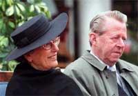 Prinsesse Astrid fru Ferner og Johan Martin Ferner. Foto: NRK