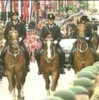 Politihester ble brukt også under kronprinsbryllupet i Oslo i fjor.