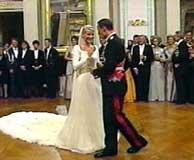 Kronprinsparet danset brudevalsen (foto: NRK).