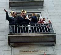 En balkong