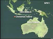 Skipet ble tvunget til å seile til den australske øygruppa Christmas Island.