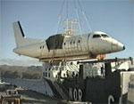 Flyet som havarerte i Båtsfjord.