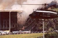 Verdens største kontorkompleks, Pentagon, fikk store skader.