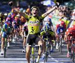 En glad Igor Gonzalez de Galdeano vat spurten på 9.etappe (Foto: Scanpix)(