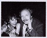 Nicole Macé og Knut Andersen på filmfestivalen i Tromsø i 1991. Foto: Erik Borge.