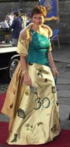 Wenche Lyche har også tegnet Mãrtha Louises kjole til hennes 30-årsdag.