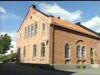 Grimstad bibliotek - her foregikk rettssaken mot Hamsun