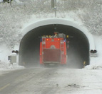 Fannefjordtunnelen i vinterdrakt. Foto: NRK.