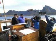 Skipper Kjartan Rasmussen intervjues av Norge Rundt
