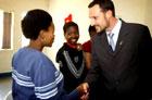 Kronprinsen møtte unge HIV-ofre