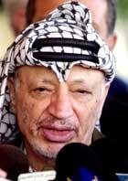 Israelerne mener krever at Yasir Arafat utleverer de som er mistenkt for drapet på turistministeren, Rehavam Zeevi.(Foto: Scanpix/AP)