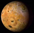Månen Io. Foto ESA/NASA