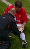 Ronny Johnsen var mye skadd i Man U, og det ser ikke ut til å gå stort bedre i Villa.