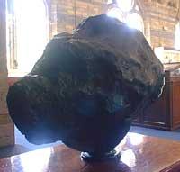 Diger meteoritt på Natural History Museum (Foto: I.Spilde)
