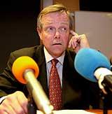 - Lommeboka er tom, sier styreformann Harald Arnkværn i Kværner. (Foto: NRK)