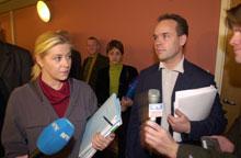Det ble i dag brudd i forhandlingene mellom regjeringen og Fremskrittspartiet. Forhandlingsledere var Jan Tore Sanner og Siv Jensen.