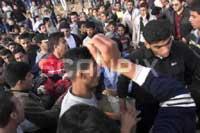Raseriet preget dagens begravelse(Foto: Scanpix)