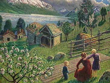 Måleri av Nikolai Astrup.