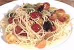 Spaghetti med cherrytomater