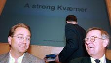 RØKKE OVERTAR: Kjell Inge Røkke tar over som ny styreformann i Kværner etter Harald Arnkværn (t.h).