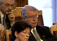 Carl I. Hagen på Stortinget i dag. Foto: NRK