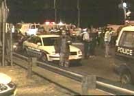 Bussen ble trolig sprengt av en selvmordsaksjonist (foto: EBU).