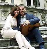 George Harrison sammen med kona Olivia.