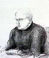 Ole Nicolai Kvisler fra hans forklaring i retten. (Tegning: Elin Fagertun)