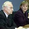 CSU-leder Edmund Stoiber sammen med CDU-leder Angela Merkel.