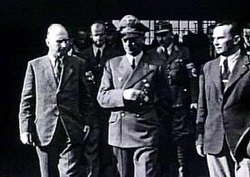 Reichskommisar Josef Terboven på synfaring i Årdal under andre verdskrig.