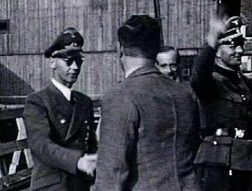 Reichskommisar Josef Terboven på synfaring i Årdal under andre verdskrigen.
