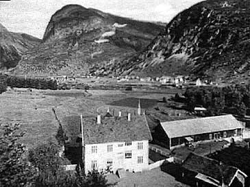 Øvre Årdal i 1940 - utsyn frå Vee mot Farnes.