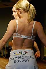 Lekkert undertøy, men OL-utøverne får ikke ta det med seg til USA. (Arkivfoto: Scanpix)