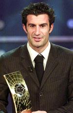 Luis Figo ble kåret til verdens beste spiller i 2001. (Foto: Scanpix)