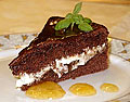 Nam! Skikkelig smakfull sjokoladekake.