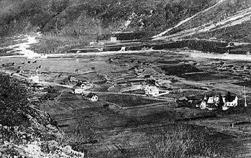 Øvre Årdal kring år 1900. (Foto: Steinkopf, Wold © Fylkesarkivet)