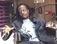 Wyclef Jean i studio hos NRK.