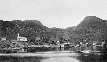 Måløy mellom 1908 og 1910. (Foto © Fylkesarkivet)