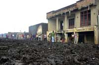 Enorme lavamasser har flommet gjennom Goma(foto: Sayyid Azim/ap/scanpix)