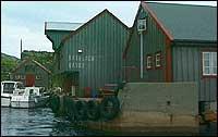 Restaurerte havbuer på Batalden.