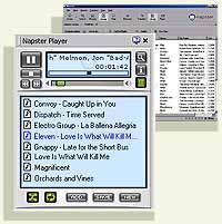 Slik vil den nye Napster-spilleren se ut på skjermen din.
