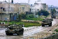 Israel kontrollerer nå Tulkarem. (Foto: Pavel Wolberg/AP/Scanpix)