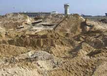 11. januar ødela den israelske hæren rullebanen ved Gaza International Airport. (Foto: Scanpix/AP/Hatem Musah)