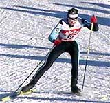 Langrennsløperen Kristina Smigun fra Estland skal ha testet positivt på en dopingprøve. (Foto: NRK)