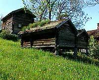 Dei gamle sognehusa er samla av Knut Rumohr.