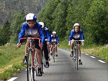I 1992 arrangerte Lærdal Sykkelklubb NM i sykkel. (Foto: Stein Magne Os, NRK)