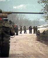 Russiske styrker kontrollerer det meste av infrastrukturen. (Foto: TF1)